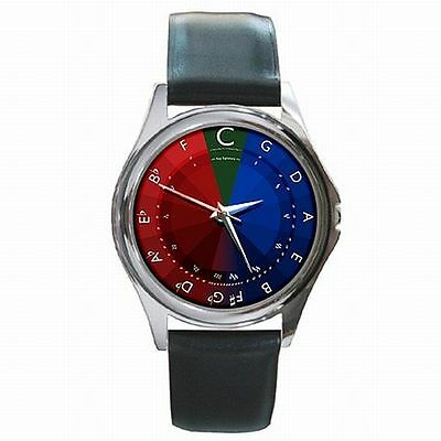 Circle of Fiths Musician Music Colorful Leather Watch