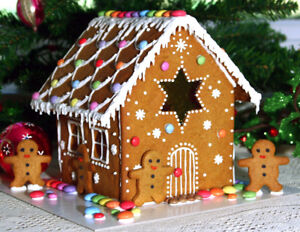 Christmas Gingerbread House Kit.Details About Handmade Gingerbread House Kit