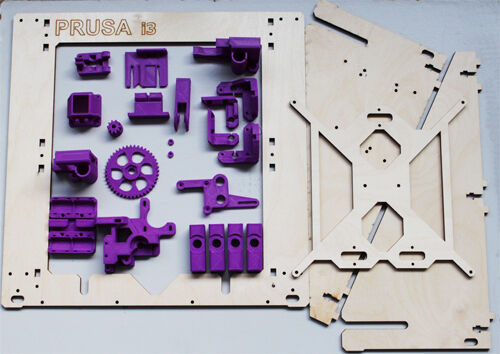 prusa i3 rework Versione con telaio betulla taglio laser reprap