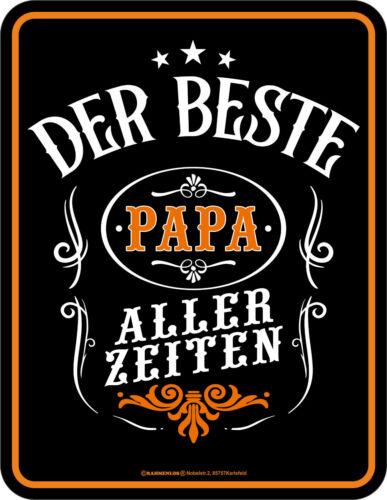 Geschenk Schild bedruckt Geburtstag Blechschild Der beste Papa aller Zeiten