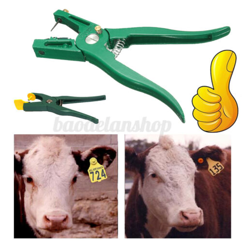 Livestock Cattle Goat Sheep Ear Tag Plier Animal Tags Lables Marking Plier A !!