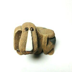 Artesania Rinconada Basset Hound Dog Puppy Ceramic Figurine Uruguay Handmade
