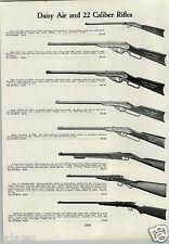 1933 PAPER AD Daisy Hamilton Air Rifle BB Gun Pump Action 22 Springfield