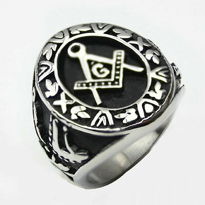 Masonic Ring Free Mason Symbol G Templar Freemasonry Illuminati Stainless Steel