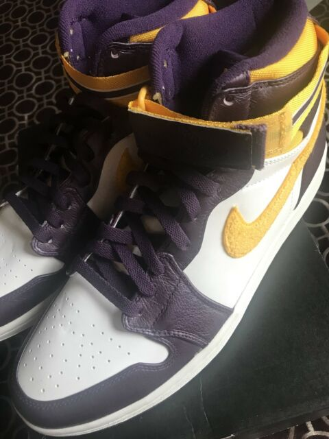 Air Jordan 1 High Strap Lakers Sz 8 Deadstock 342132-571 for sale