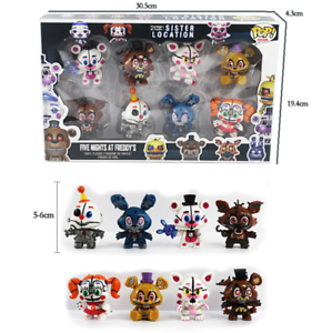 6pcs Five Nights At Freddy's Action Figure FNAF Foxy Bonnie Sister Location Toy
