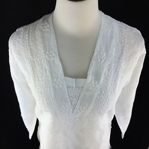 a46248ba629 NEW Women's Top Ladies Tunic Hand Embroidered Chikan Formal Tunic ...