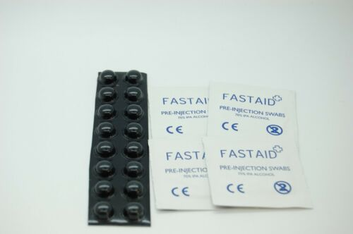 SELF ADHESIVE FEET 11.2mm x 5.1mm /& wipes bundle set 3M™ SJ5003 BLACK BUMPON™