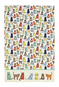 "Cat Tea Towel ""Catwalk"" Cotton Tea Towel - Ulster Weavers"