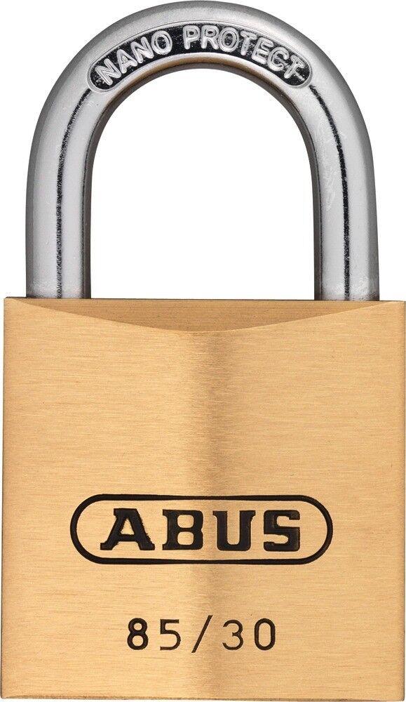 ABUS Vorhängeschloss Messing Serie 85//50 verschieden schließend