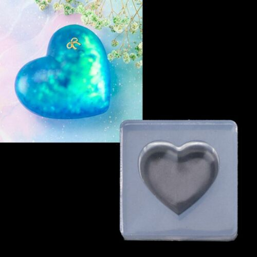 Jewelry Silicone Mold 3D Heart Shape Pendant Epoxy Resin Jewelry DIY Craft Tool