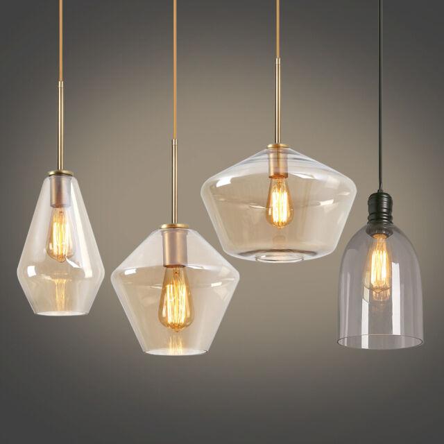 Glass Vintage Industrial Edison Bulb Ceiling Lamp Pendant Light Fixture 3 Lights For Sale Online Ebay