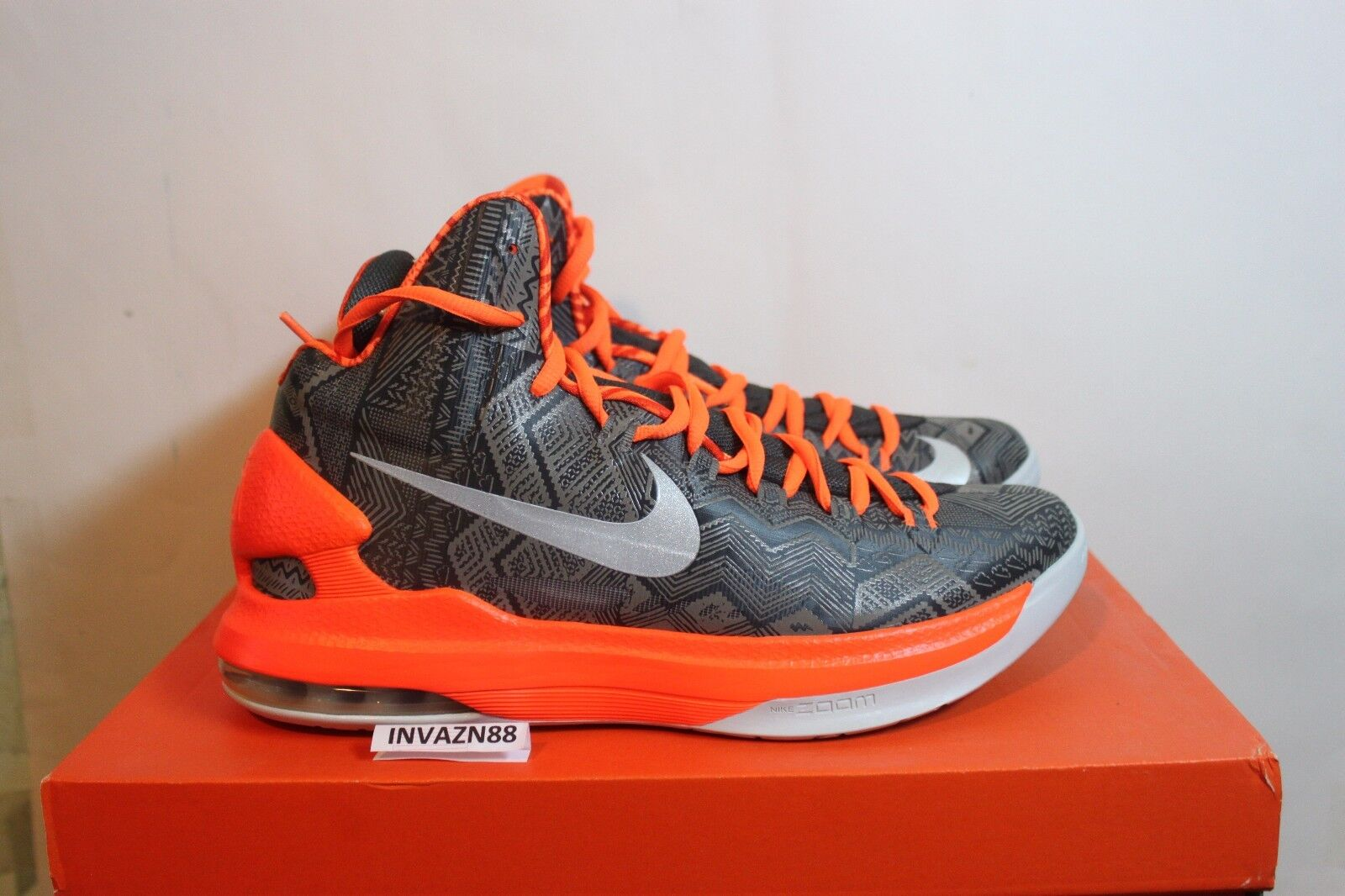 NIKE AIR AIR AIR ZOOM MAX KD V 5 BHM BLACK HISTORY MONTH GREY ANTHRACITE 2012 DS SIZE 9 f7f622