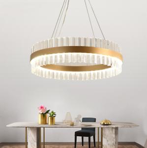 Image Is Loading Luxury Nordic LED Crystal Pendant Chandelier Bedroom Dining