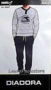 74536b4d650a Caricamento dell'immagine in corso PIGIAMA-UOMO-lungo-DIADORA-JERSEY-COTONE -LEGGERO-100-