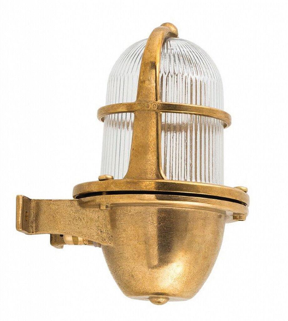 Lámpara de parojo de latón de vidrio ip64 inoxidable Maritime exterior lámpara balcón casa patio