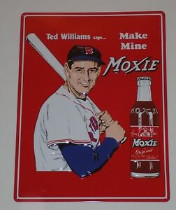Ted Williams Moxie Baseball Retro Metal Tin Sign ~ Made in the USA