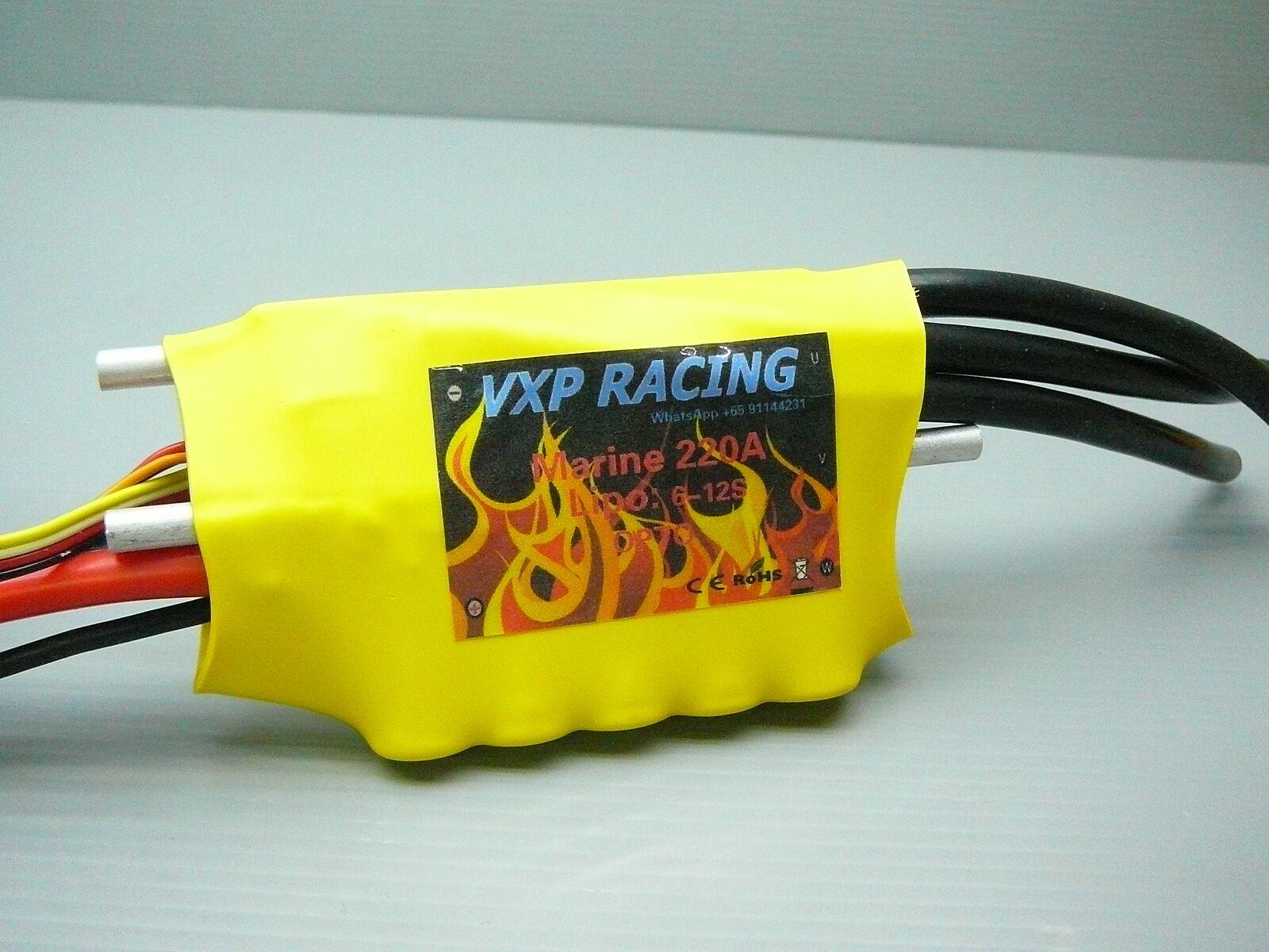 VXP Racing 220A ESC High Voltage 6-12S LiPo Boat beats Hobbywing Sea King 180A