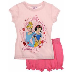 DISNEY-pyjashort-PRINCESSES-2-ou-8-ans-pyjama-pyjacourt-rose-NEUF