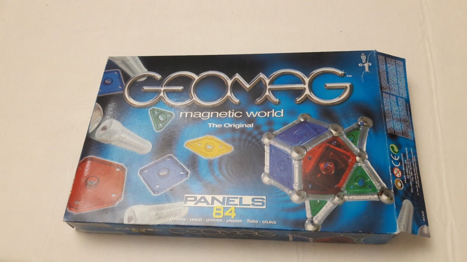 NIB PlastWood Geomag 84 PC sets Panels Magnetic Toy Damage BOX NEW Made in