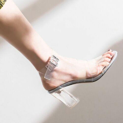 con fibbia donna Sandali metallo da Slingback metallo in trasparente in IwwSUHqv