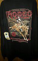 Nfr Las Vegas 2015 National Finals Pro Rodeo Gear Mens T-shirt Black Long Sleeve