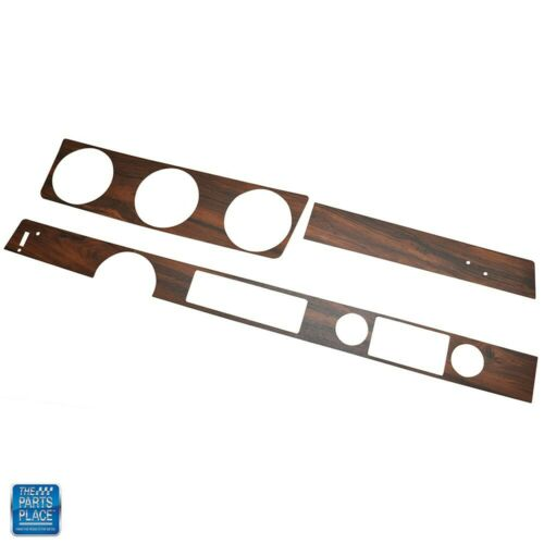 1972 Cutlass Dash Wood Kit With Metal Backing Coupe