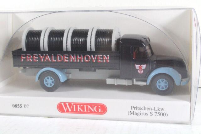 """Wiking 085507 Magirus S 7500 Pritschen-LKW """"Freyaldenhoven"""" (665)"""
