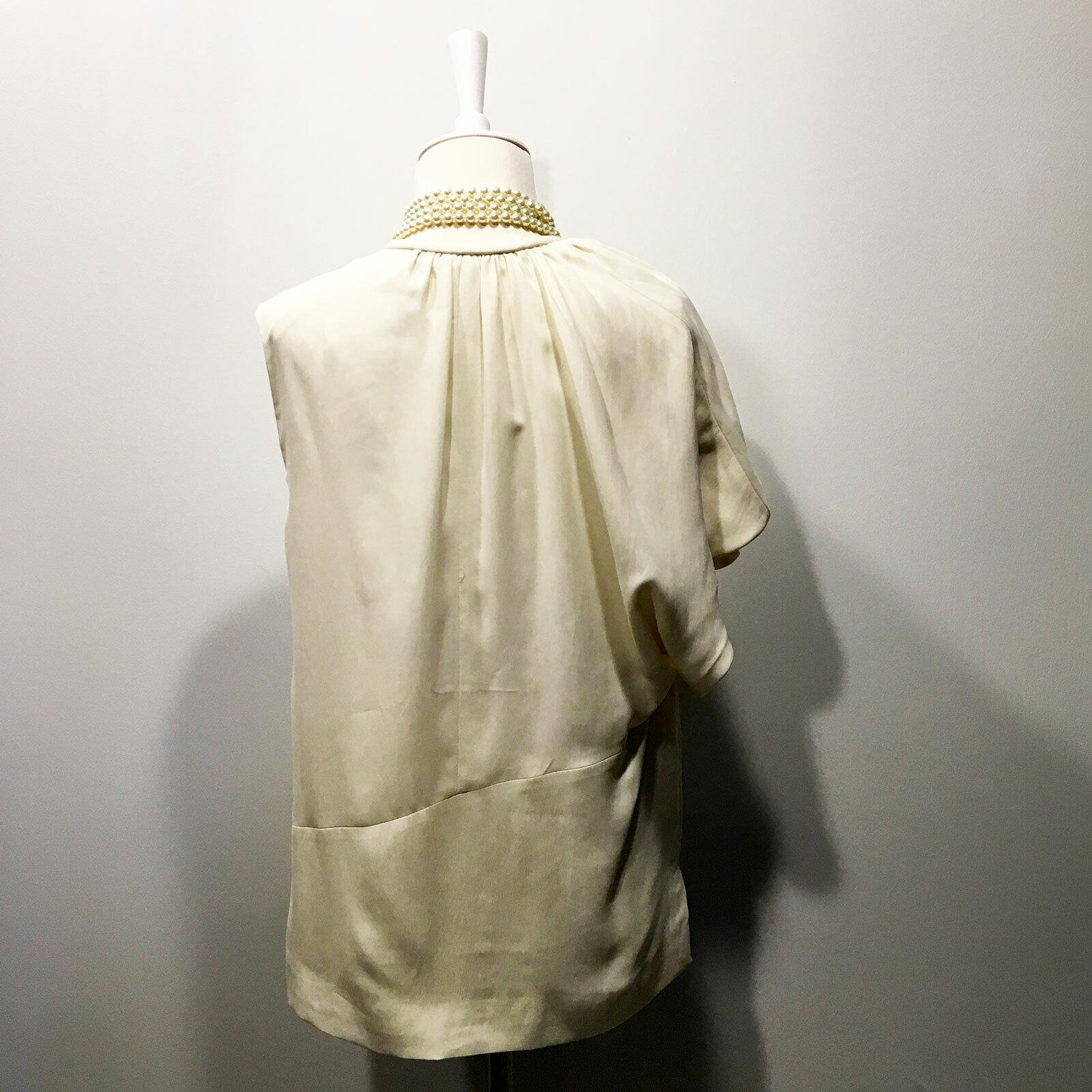 Balenciaga | $945 Ivory One-Shoulder  Pleated Dra… - image 6