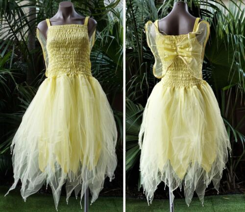 Women/'s Fairy Dress Party Costume with Wings Lemon