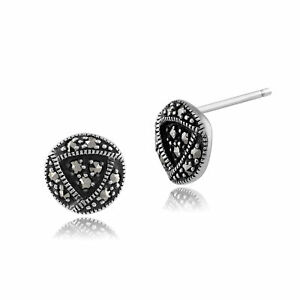 argento-sterling-0-2ct-marcasite-RENNIE-MACKINTOSH-Orecchini-a-lobo
