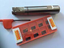 1 x  Schaftfräser 20mm/Z =3  mit 10 Stück SANDVIK R390-11T304M-PM 4240 NEU!!