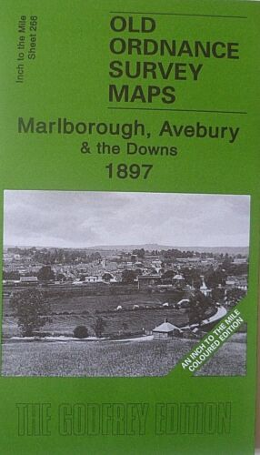 Edit New Old Ordnance Survey Map Marlborough Avebury /& The Downs  1897 S266 Col