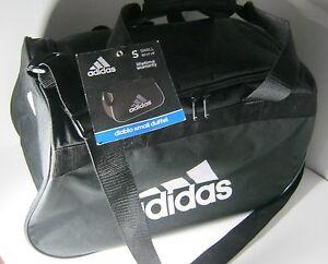 8baf95dbd478 New Adidas Diablo Small Duffel Gym Bag Black Travel Camp 18.5