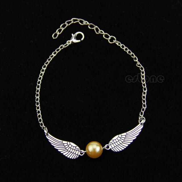 Hot Movie Retro Fashion Snitch Coppery Silver Bracelet Pendant Charm Chain