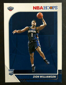 ZION-WILLIAMSON-Rookie-Card-2019-20-Panini-NBA-Hoops-Base-Rookie-258-Free-Ship