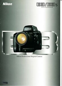 Adroit Authentique 1998 Langue Japonaise Nikon Brochure Produit Pour E3 Caméra E3s-afficher Le Titre D'origine