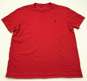 Polo-Ralph-Lauren-Shirt-Men-039-s-Size-Extra-Large-XL-Custom-Fit-Blue-Pony-Tee-Adult