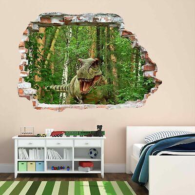 Amabile Dinosauro In Jurassic Jungle 3d Wall Art Sticker Murale Decalcomania Kids Room Decor Az4- Per Prevenire E Curare Le Malattie