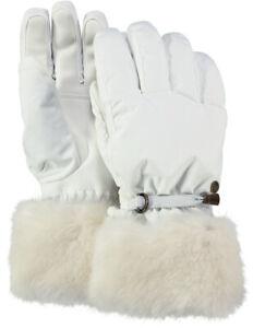 2020 Women's Ladies Barts Empire Ski Gloves White size 8  waterproof 2826