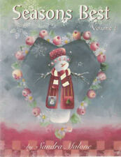 Seasons Best Vol 2 Sandra Malone Painting Book NEW Snowman