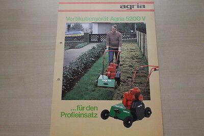 Berichte & Zeitschriften Agria Vertikultiergerät 5200 V Prospekt 02/1982 Wir Haben Lob Von Kunden Gewonnen 163574 Auto & Motorrad: Teile