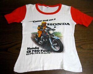 Altes Kinder T Shirt Come Out On A Honda Cb 750 Four Vintage Gr