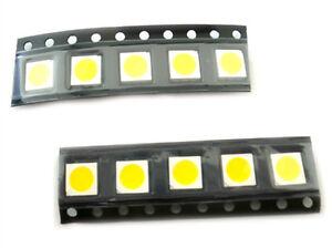 10-PIEZAS-Led-SMD-5050-PLCC-6-Blanco-Calido-3000K-18-Lm-3V-0-2W-3-Fichas-8000mcd