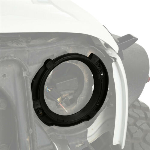 2Pcs 7inch LED Headlight Round Ring Mounting Bracket for 07-18 Jeep Wrangler JK