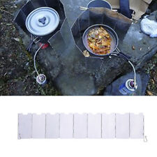 9 Pcs Outdoor Camping Picnic Stove BBQ Burner Wind Shield Wind Screen Foldable