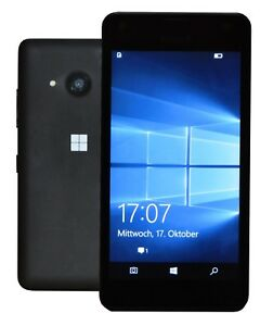microsoft lumia 550 8gb schwarz ohne simlock smartphone rechnung mit mwst ebay. Black Bedroom Furniture Sets. Home Design Ideas