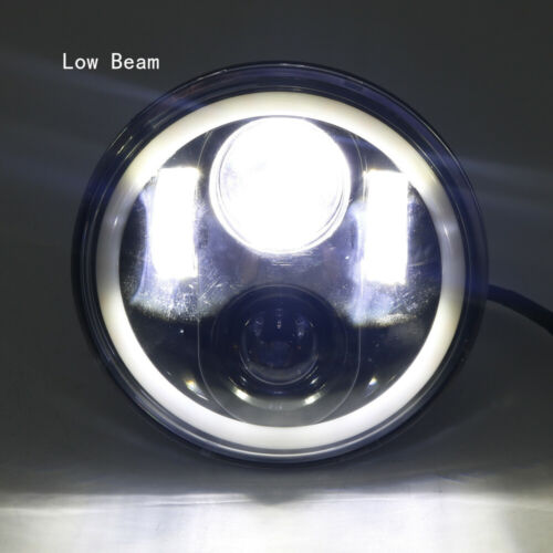 """5.75/"""" 5 3//4 LED Motorcycle Headlight DRL Amber Turn Signal Halo Ring For Harley"""