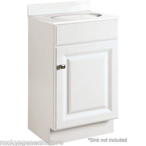 bathroom vanity cabinet white thermofoil 18 wide x 16