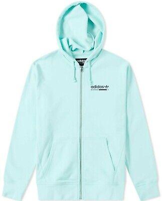 adidas Men Originals Men's Kaval Hoodie Jacket Clear Mint DH4983 Trefoil   eBay
